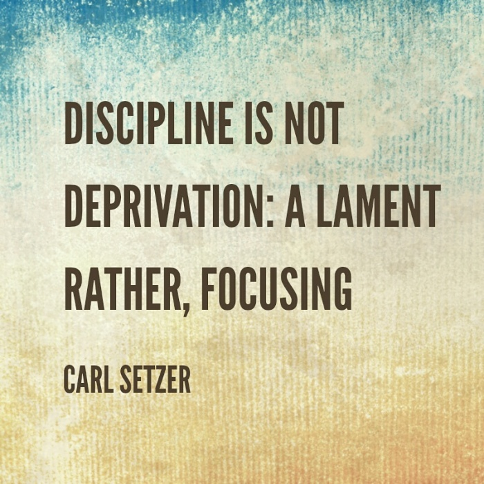 A meditation about discipline